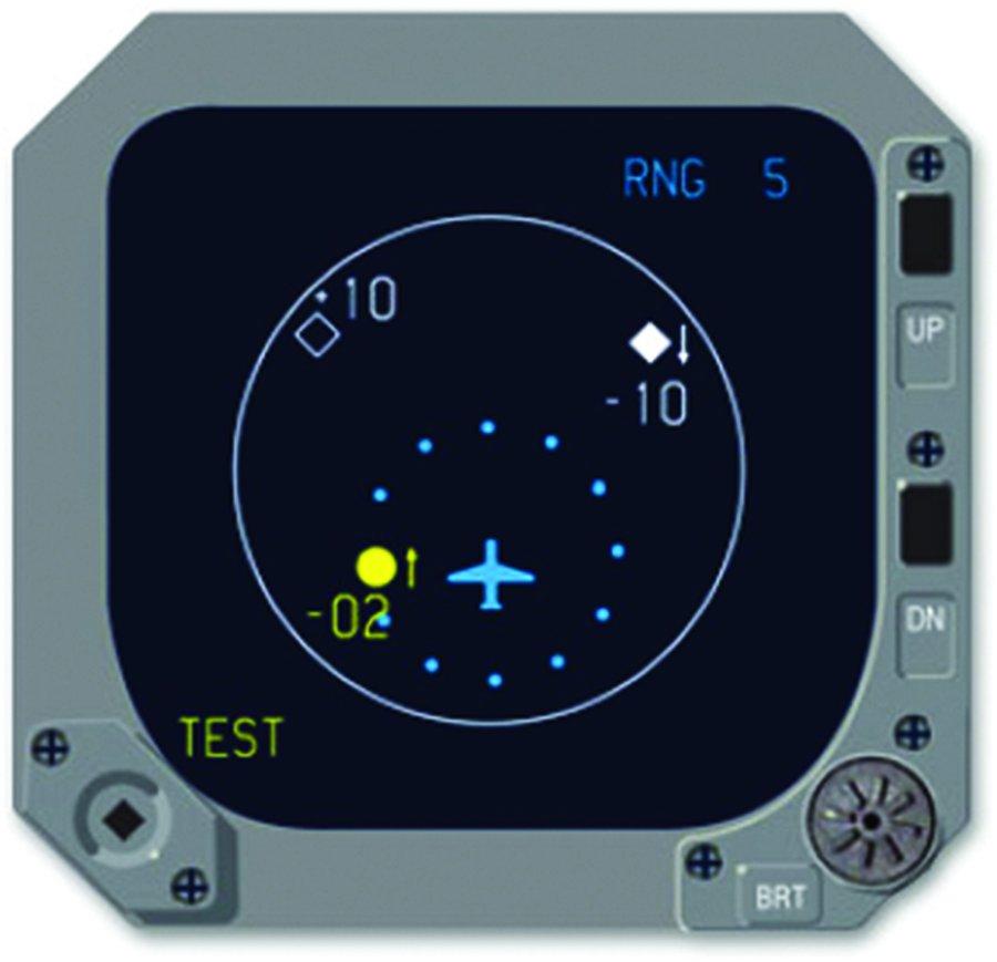 Honeywell TID-66D TCAS I display