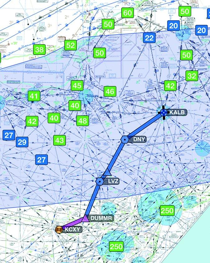 aviation ice detours