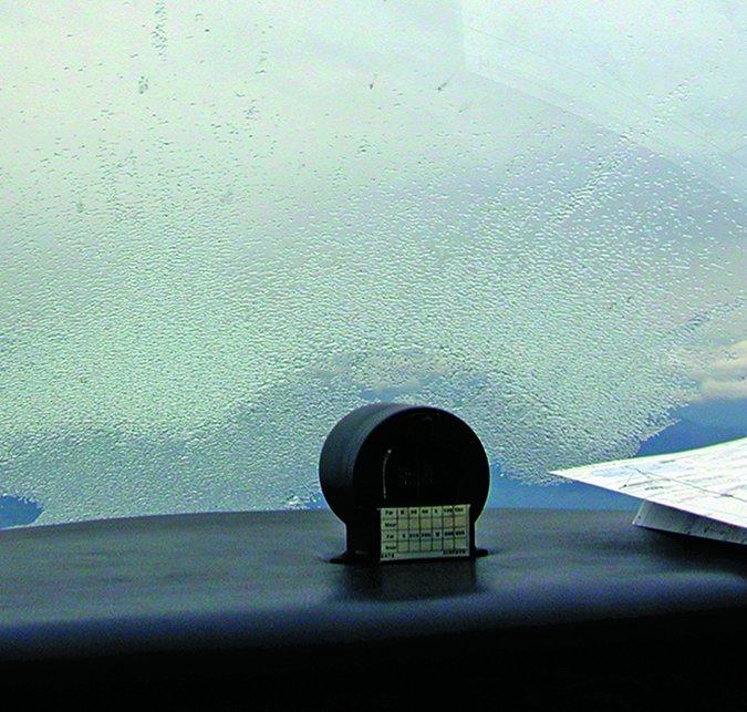 ice on aircraft window