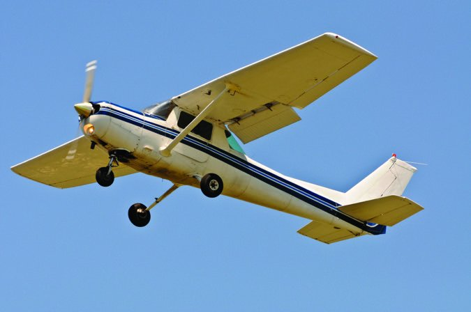 a plane flying