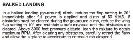 landing text