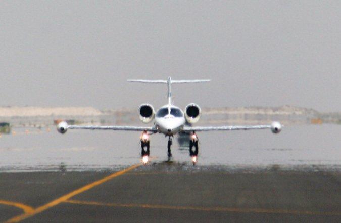 LearjetHeatTaxiway_USAF